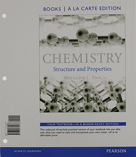 9780133908695: Chemistry: Structure and Properties, Books a la Carte Edition & Modified MasteringChemistry with Pearson eText -- ValuePack Access Card -- for Chemistry: Structure and Properties Package