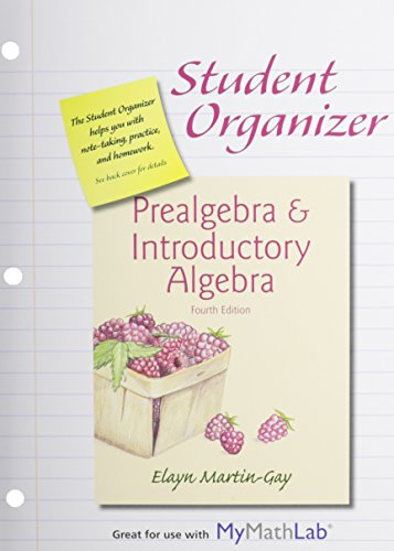 9780133910551: Student Organizer for Prealgebra & Introductory Algebra & MyLab Math -- Standalone Access Card Package (4th Edition)