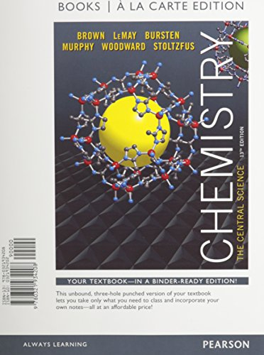 9780133910919: Chemistry: The Central Science, Books a la Carte Edition & Modified Mastering Chemistry with Pearson eText -- ValuePack Access Card Package