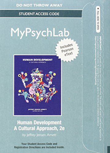 9780133912487: NEW MyLab Psychology with Pearson eText -- Standalone Access Card -- for Human Development: A Cultural Approach (2nd Edition)