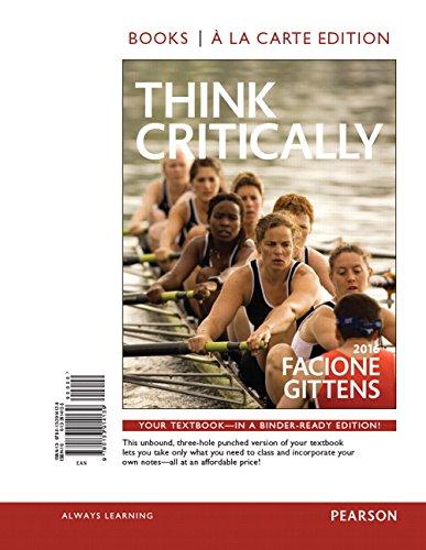 9780133914139: THINK Critically, Books a la Carte (3rd Edition)