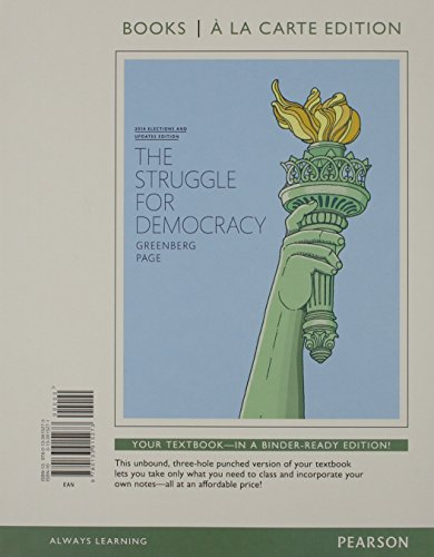 9780133915273: Struggle for Democracy, The, 2014 Elections and Updates Edition, Books a La Carte Edition (11th Edition)