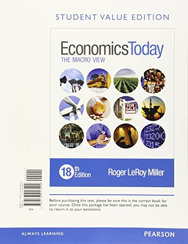9780133916492: Economics Today: The Macro View, Student Value Edition (18th Edition)