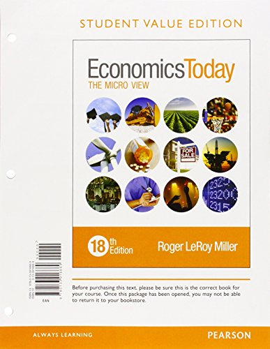 9780133916669: Economics Today: The Micro View, Student Value Edition (18th Edition)