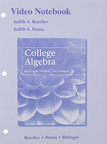 9780133918502: Video Notebook College Algebra