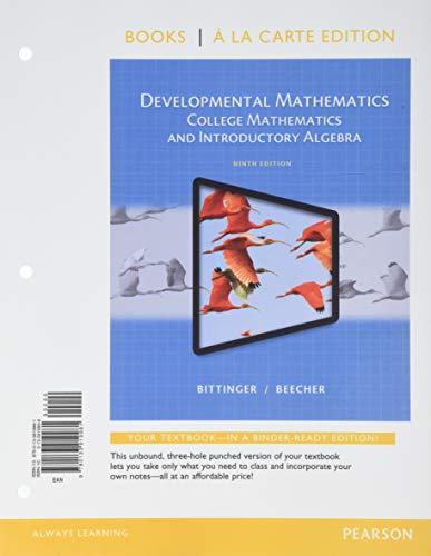 9780133919981: Developmental Mathematics, Books a la Carte Edition (9th Edition)