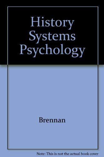 9780133922189: History Systems Psychology