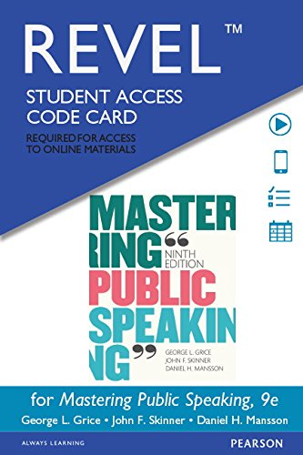 9780133922530: REVEL for Mastering Public Speaking -- Access Card (9th Edition)