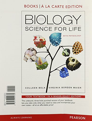 9780133922769: Biology: Science for Life with Physiology, Books a la Carte Edition (5th Edition)