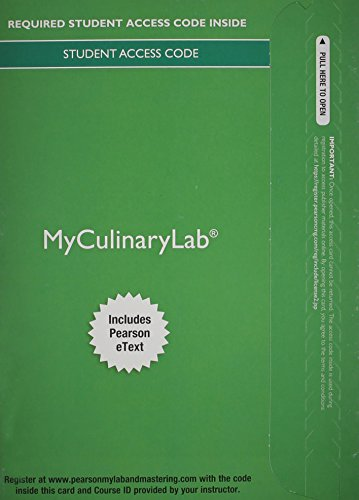 9780133923629: MyCulinaryLab with Pearson eText -- Access Card -- for On Cooking Update, On Baking, and Garde Manger