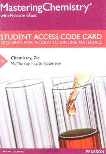 9780133923988: MasteringChemistry with Pearson eText -- Standalone Access Card -- for Chemistry (7th Edition)