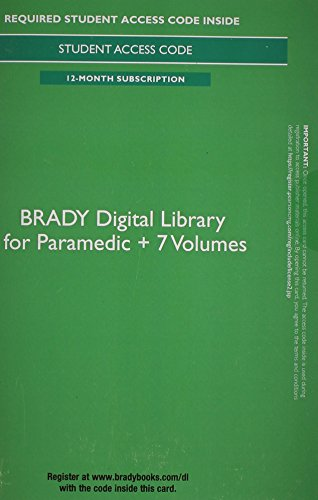 9780133927689: Brady Digital Library for Paramedic + 7 Volumes -- Access Card (12 months access)