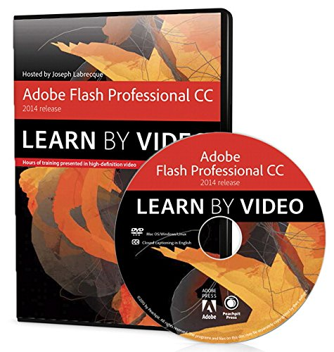 9780133928099: Adobe Flash Professional CC Learn by Video (2014 Release)