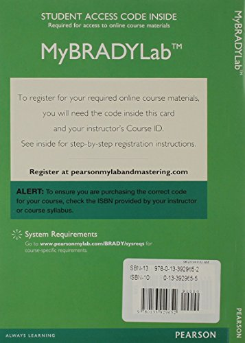 9780133929652: MyBradyLab with Pearson eText -- Access Card -- for Paramedic Care: Principles and Practice, Volumes 1-7