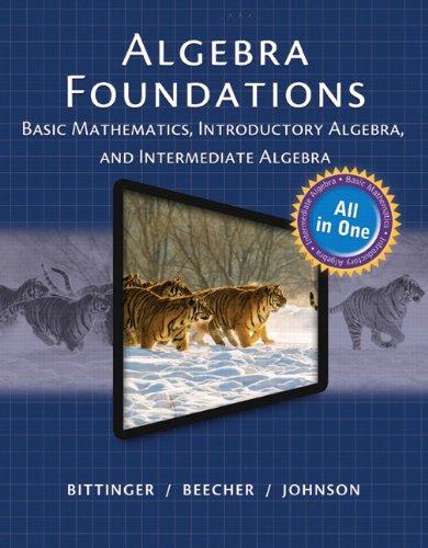MyMathLab for Bittinger Algebra Foundations: Basic Math, Intro and Intermediate Algebra -- Access ...