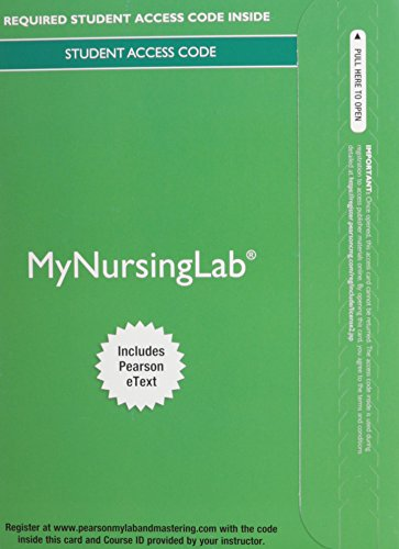 9780133930689: MyNursingLab with Pearson eText -- Access Card -- for Pharmacology for Nurses: A Pathophysiologic Approach