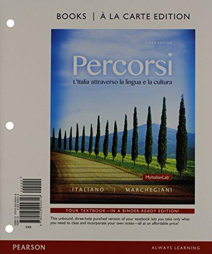 9780133934328: Percorsi: L'Ialia attraverso la lingua e la cultura, Books a la Carte Plus MyLab Italian (multi semester access) with eText -- Access Card Package (3rd Edition)