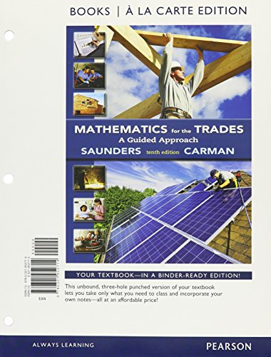 9780133934397: Mathematics for the Trades: A Guided Approach Books a la Carte Plus MyLab Math -- Access Card Package (10th Edition)