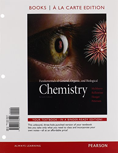 9780133934571: Fundamentals of General, Organic, and Biological Chemistry, Books a la Carte Edition and Modified MasteringChemistry with Pearson eText & ValuePack Access Card (7th Edition)