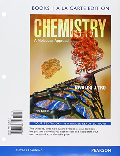 9780133935660: Chemistry: A Molecular Approach, Books a la Carte Edition and Student Solutions Manual forText (3rd Edition)