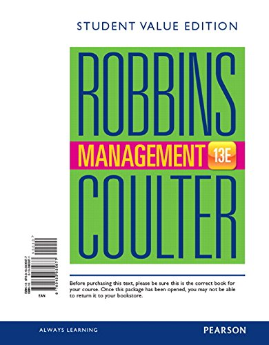 9780133935677: Management, Student Value Edition (13th Edition)
