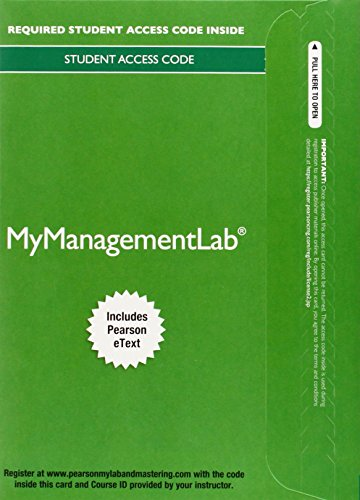 9780133935738: MyLab Management with Pearson eText -- Access Card -- for Management (My Management Lab)