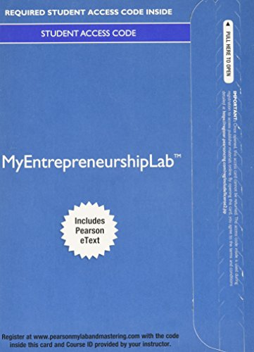 9780133935875: MyLab Entrepreneurship with Pearson eText -- Access Card -- for Entrepreneurship: Starting and Operating A Small Business