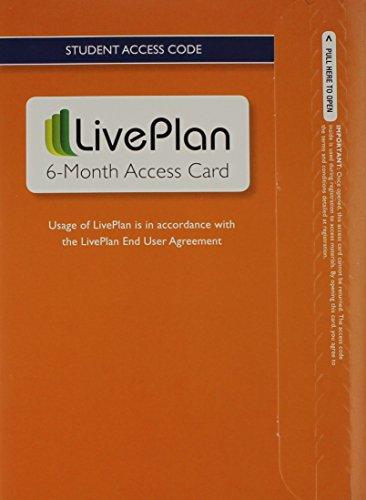 9780133936025: LivePlan 6-Month Access Card