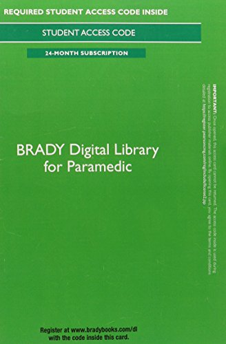 9780133936070: Brady Digital Library for Paramedic -- Access Card (24 months access)