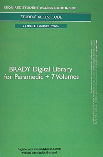 9780133936100: Brady Digital Library for Paramedic + 7 Volumes - Access Card (24 months access)