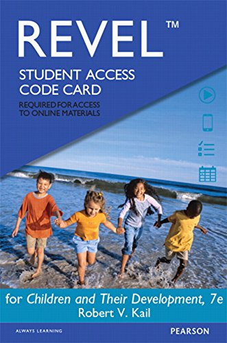9780133939170: REVEL for Children and Their Development -- Access Card (7th Edition)
