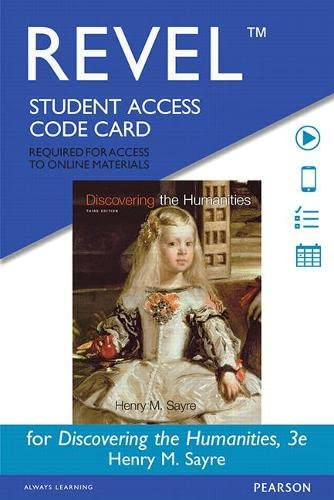 9780133940213: REVEL for Discovering the Humanities -- Standalone Access Card (3rd Edition)