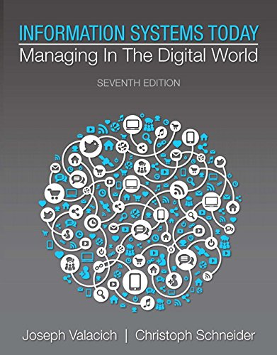 Information Systems Today: Managing in the Digital World (7th Edition): Valacich, Joseph; Schneider...