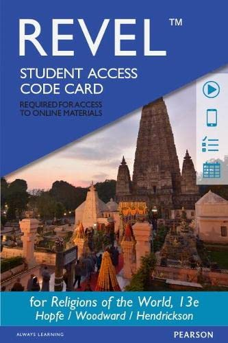 9780133940374: Revel for Religions of the World -- Access Card (13th Edition)