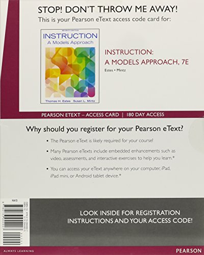 9780133944907: Instruction: A Models Approach, Enhanced Pearson eText -- Access Card (7th Edition)