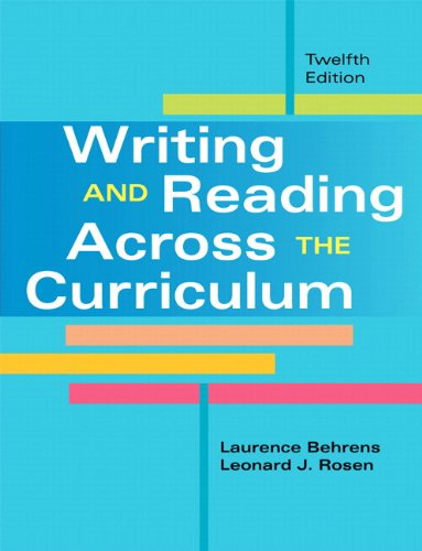 9780133947366: Writing and Reading Across the Curriculum Plus MyWritingLab with eText -- Access Card Package (12th Edition)