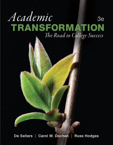 Academic Transformation: The Road to College Success Plus NEW MyStudentSuccessLab with Pearson ...