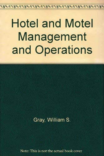 9780133949087: Hotel and Motel Management and Operations