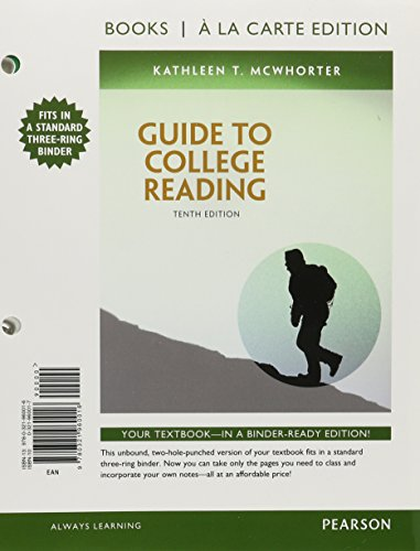 Guide to College Reading MyReadingLab (10th) [Aug