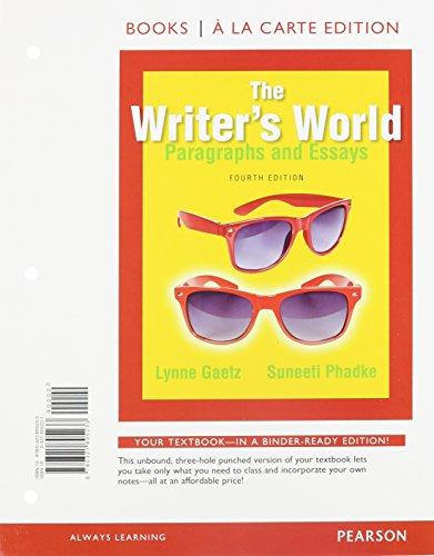 The writer's world essay