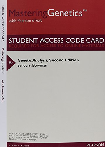 9780133950977: MasteringGenetics with Pearson eText -- ValuePack Access Card -- for Genetic Analysis