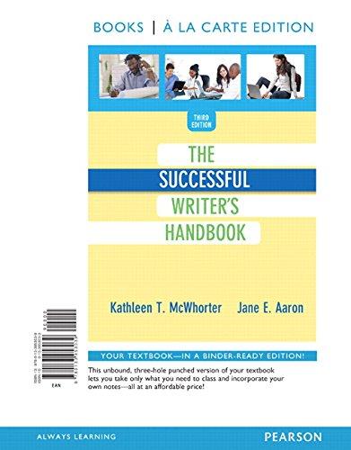 9780133953039: The Successful Writer's Handbook, Books a la Carte Edition (3rd Edition)