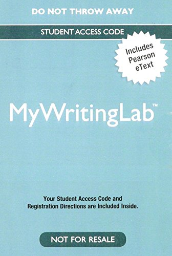 9780133954708: MyLab Writing with Pearson eText -- Valuepack Access Card