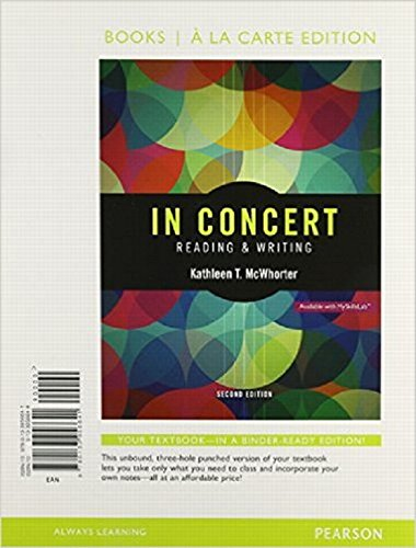 9780133956641: In Concert: An Integrated Approach to Reading and Writing, Books a la Carte Edition (2nd Edition)