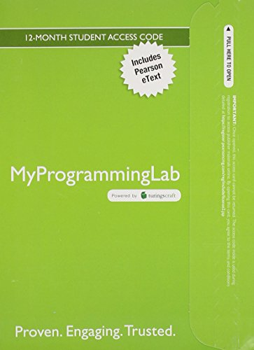 9780133957600: MyLab Programming with Pearson eText -- Access Card -- for Starting Out with Java: From Control Structures through Objects
