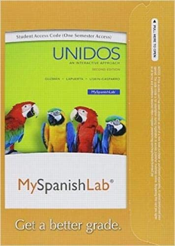 9780133959642: MyLab Spanish with Pearson eText --Access Card-- for Unidos (One Semester) (2nd Edition)