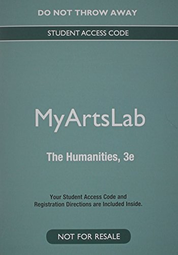 9780133961898: NEW MyLab Arts Generic without Pearson eText -- Valuepack Access Card -- for Introduction to Humanities Courses