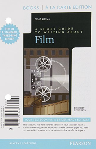9780133968200: Short Guide to Writing about Film, Books a la Carte Edition Plus NEW MyLab Writing with eText -- Access Card Package (9th Edition)