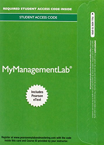 9780133971491: MyLab Management with Pearson eText -- Access Card -- for Essentials of Organizational Behavior