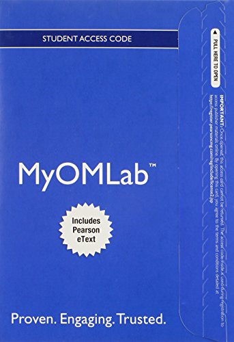 9780133972559: MyLab Operations Management with Pearson eText -- Access Card -- for Managing Supply Chain and Operations (My Om Lab)